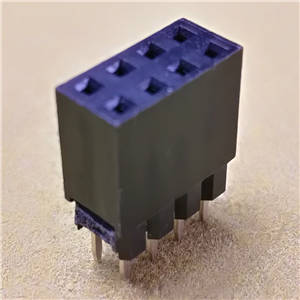 Female header connector,2.54x8.5 2x4Pos 1 Plastic 180 DIP PBT
