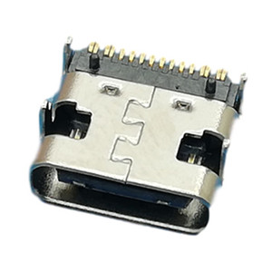 Type C Connector, Single Row 16POS, SMT Shell with Shell Positioning L= 7.35mm