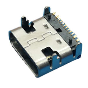 Type C Connector, Single Row 16p SMT Shell with Parent Seat, No Shell, Positioning L= 7.35mm
