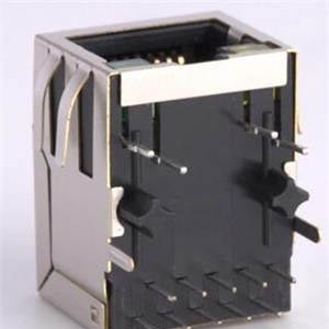 RJ45 10P8C Sinking Plate SMT Without Shielding Case